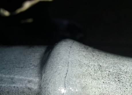 Transverse indications in Sucker Rod upset